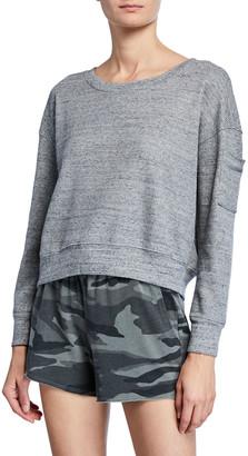 Splendid Thermal Academy Sweatshirt, Heather Gray