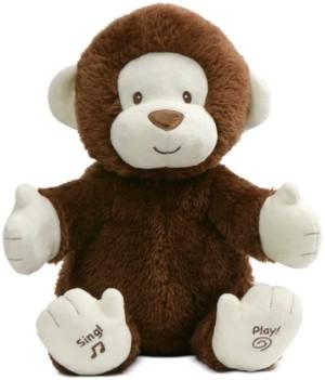 Gund Baby Boys or Girls Animated Clappy the Monkey Interactive Plush
