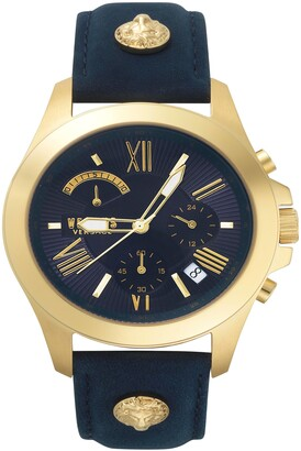 Versus By Versace Lion Chronograph Leather Strap Watch, 44mm