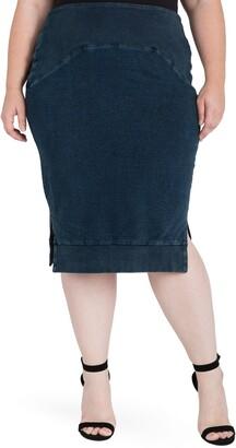 Standards & Practices Kelly Side Slit Knit Pencil Skirt