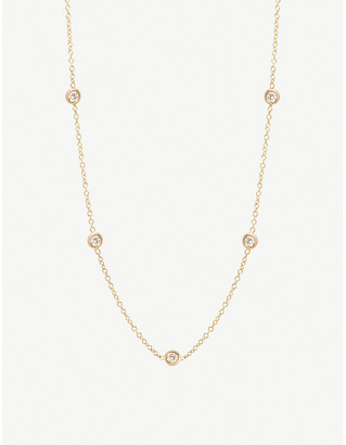 Selfridges Zoe Chicco 14ct yellow-gold and diamond choker necklace