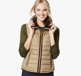 Johnston & Murphy Fur-Collar Quilted Vest