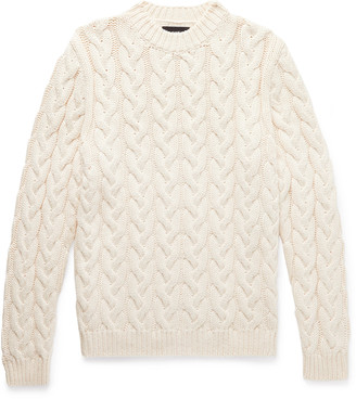 Alanui Cable-Knit Cotton-Blend Sweater