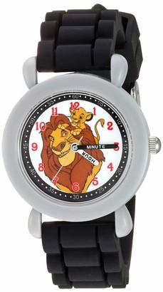 Disney Boys' New Lion King Analog Quartz Watch with Silicone Strap