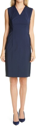 HUGO BOSS Dabixa Sleeveless Sheath Dress
