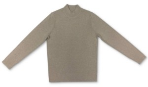 Karen Scott Cotton Mock-Neck Ribbed Top, Created for Macy's
