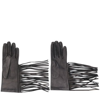 Manokhi Textured Style Fringed Edge Gloves