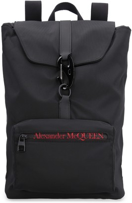 Alexander McQueen Urban Logo Detail Nylon Backpack