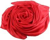 """Beauty II Silk Shawl Scarf for Wedding Bridal Evening Party Long (Peach, 35.4""""x70.8"""")"""