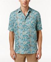 Tasso Elba Men's Short-Sleeve Paisley-Print Shirt