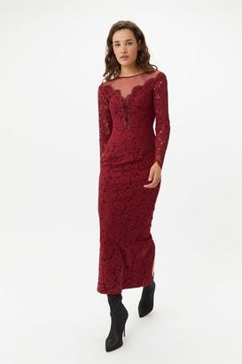 Coast Merlot Lace Maxi Dress