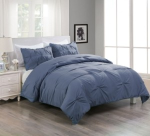 Lotus Home Pintuck Comforter Mini Set With Water and Stain Resistance Bedding