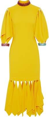 Christopher Kane Appliqued Stretch-crepe Midi Dress