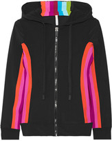 NO KA 'OI No Ka'Oi - Nola Paneled Stretch-jersey Hooded Top - Black
