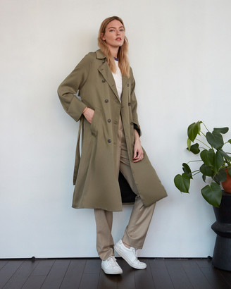 Billie The Label Atwood Double Breasted Trench Coat