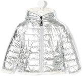 MonnaLisa metallic padded jacket - kids - Polyester - 9 mth