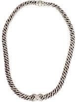 David Yurman Diamond X Chain Necklace