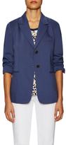 Jil Sander Navy Wool Welt Pocket Button Jacket