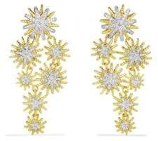 David Yurman Staburst Cluster Earrings with Diamonds in Gold