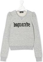 DSQUARED2 puff sleeve sweatshirt - kids - Cotton/Viscose - 14 yrs