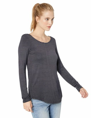 Daily Ritual Amazon Brand Women's Jersey Long-Sleeve Scoop Neck Tunic