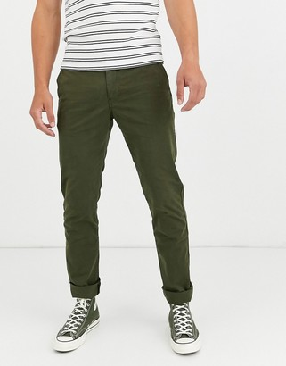 Paul Smith slim fit chinos in khaki-Green