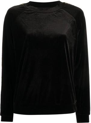 Emporio Armani Sequin Side Panel Sweatshirt