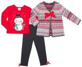 Little Lass Gray Snowflake Sweater & Legging Set - Infant Toddler & Girls
