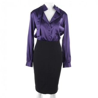 Sly 010 Sly010 Purple Silk Dress for Women