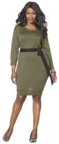 Merona Women's Plus-Size 3/4-Sleeve Sweater Dress - Assorted Colors