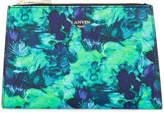 Lanvin printed trapeze clutch