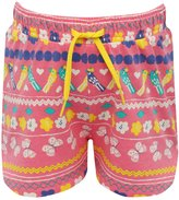 M&Co Parrot print stripe shorts