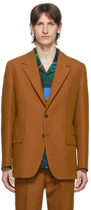 Acne Studios Orange Single-Breasted Suit Blazer