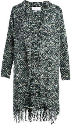 Palila San Francisco Women's Pullover Sweaters As - Green Fringe Open Cardigan - Women