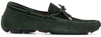 Kiton Bow-Tie Suede-Effect Loafers