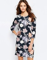 Ichi Lemana Floral Print Shift Dress