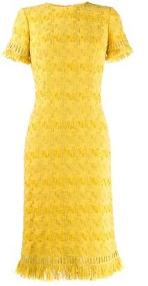 Ermanno Scervino fringed midi dress