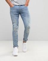 G Star G-Star Revend Super Skinny Jeans Light Aged Restored Distressed 85
