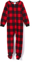 Komar Kids Red Buffalo Check Footie Pajamas - Kids