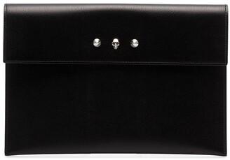 Alexander McQueen Studded Leather Envelope Clutch