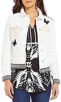 Westbound Novelty Button Front Denim Jacket