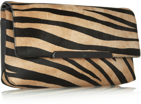 Christian Louboutin Rougissime tiger-print calf hair clutch