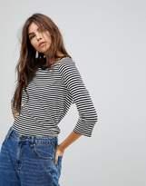 Vero Moda Stripe 3/4 Sleeve T-Shirt
