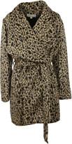 Michael Kors Belted Leopard Print Coat
