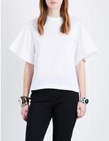 Toga Fringe-detail cotton-jersey t-shirt