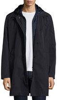 Moncler Reynaud Hooded Long-Zip Coat, Navy