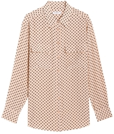 Equipment Signature Anjelica Hearts Print Silk Shirt