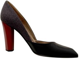 Diane von Furstenberg Black Leather Heels
