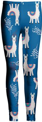 Lily Women's Leggings BLU - Blue & White Llama Leggings - Women & Plus