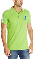 U.S. Polo Assn. Men's Slim Fit Color Blocked Pique Polo Shirt